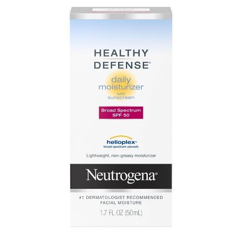 Neutrogena Healthy Defense Daily Face Moisturizer -SPF 50 - 1.7 fl oz - image 1 of 4
