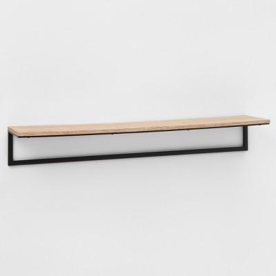 Wood and Metal Antique Oak Shelf (36 )- Project 62™