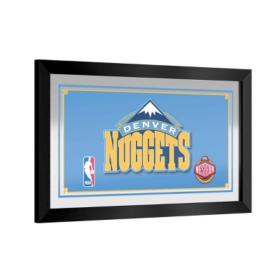NBA Denver Nuggets Team Logo Wall Mirror