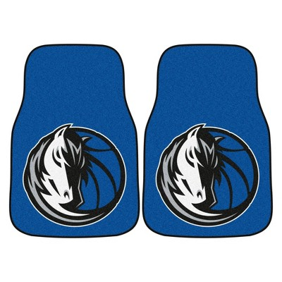 NBA Dallas Mavericks Carpet Car Mat Set - 2pc