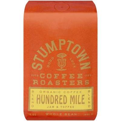 Stumptown Hundred Mile Espresso Roast Whole Bean Light Roast Coffee - 12oz