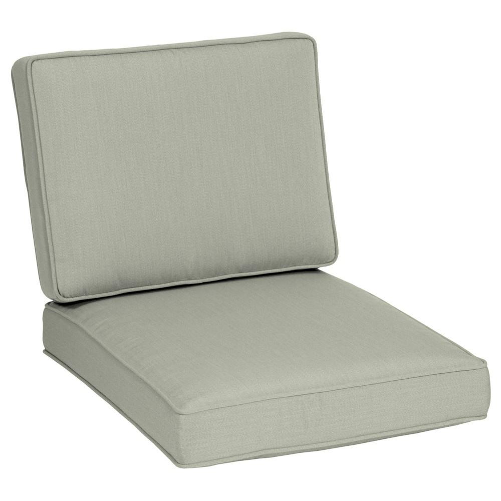 2pc 30 34 X 26 34 Firm Deep Seat Cushion Set Light Gray Arden Selections