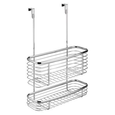InterDesign Axis Over-the-Cabinet Steel Storage Basket 16  Chrome