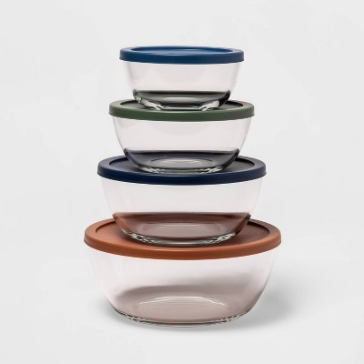 Set of 4 Glass Mixing bowls with Lids - Made By Design™