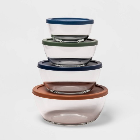 Set of 4 Glass Mixing bowls with Lids - Made By Design™ - image 1 of 3