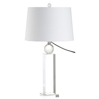 "28.5"" Charlotte Crystal LED Table Lamp Clear (Includes Energy Efficient Light Bulb) - JONATHAN Y"
