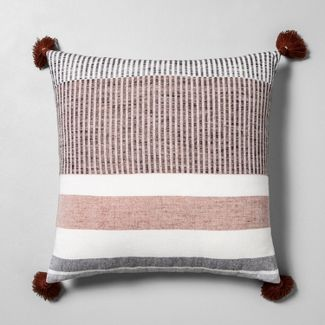 Striped Throw Pillow Sour Cream / Rust / Black - Hearth & Hand™ with Magnolia