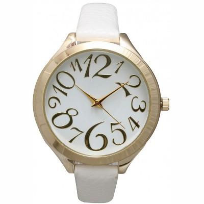 Olivia Pratt Artistic Numeral Leather Strap Watch
