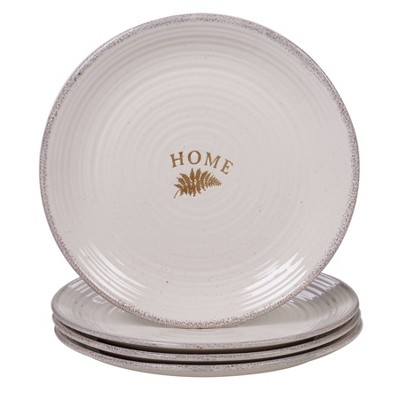 11.3  4pk Stoneware Gather Dinner Plates White - Certified International