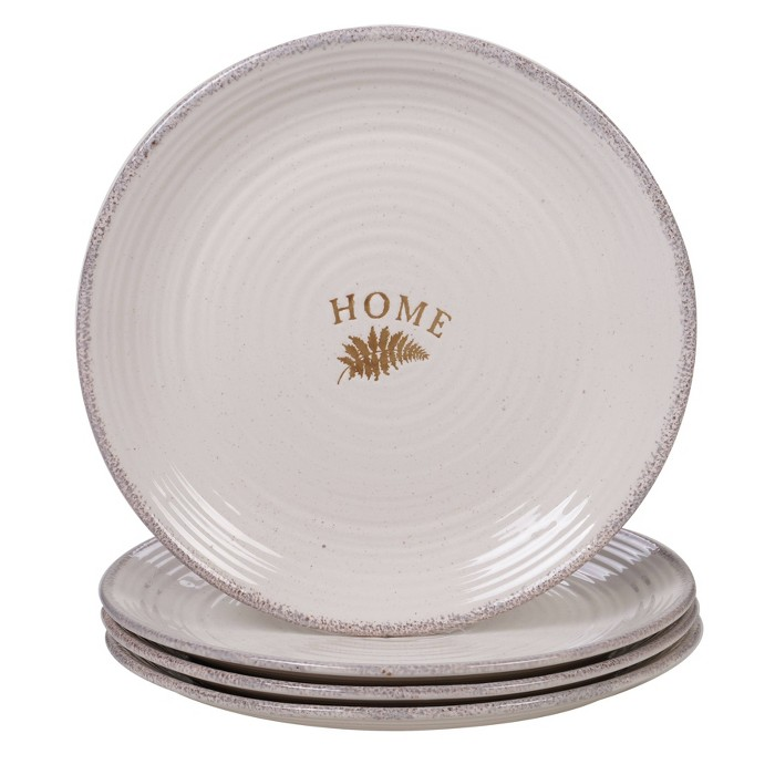 "11.3"" 4pk Stoneware Gather Dinner Plates White - Certified International - image 1 of 1"