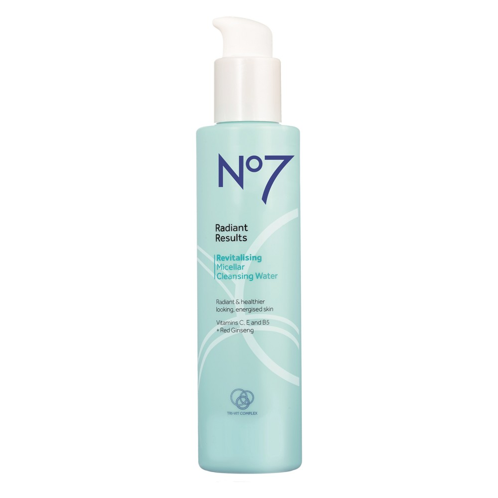 EAN 5000167255096 product image for No7 Radiant Results Revitalising Micellar Cleansing Water - 6.7oz | upcitemdb.com