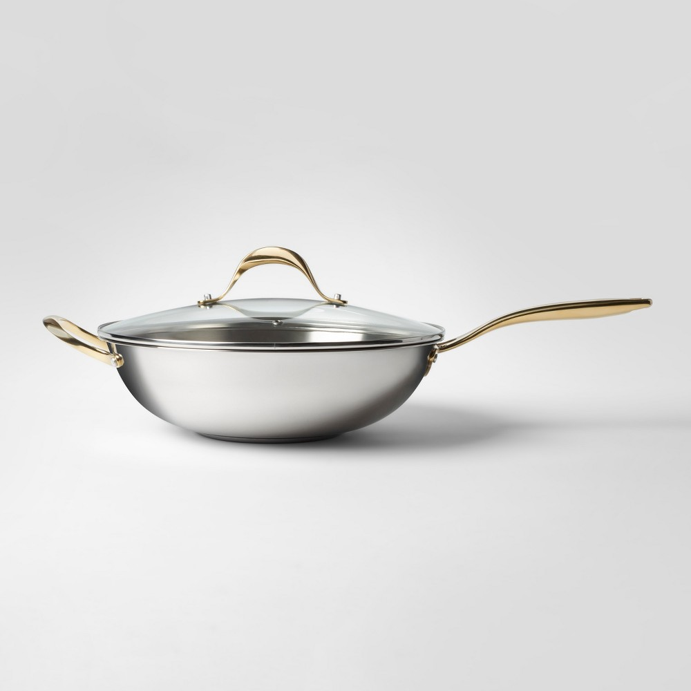 Cravings by Chrissy Teigen 5.8qt Stainless Steel Wok with Lid