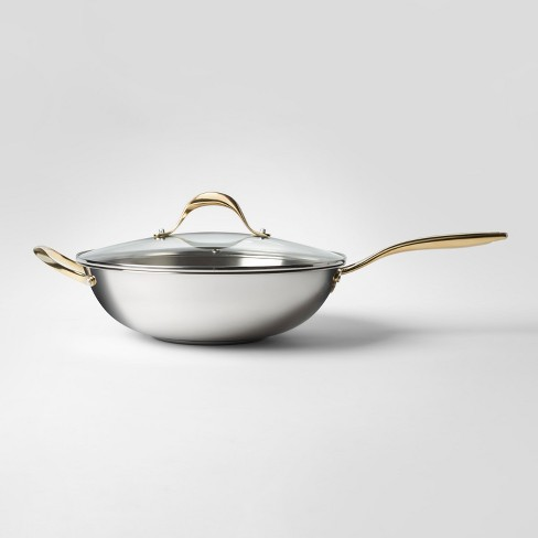 Cravings By Chrissy Teigen 58qt Stainless Steel Wok With Lid Target