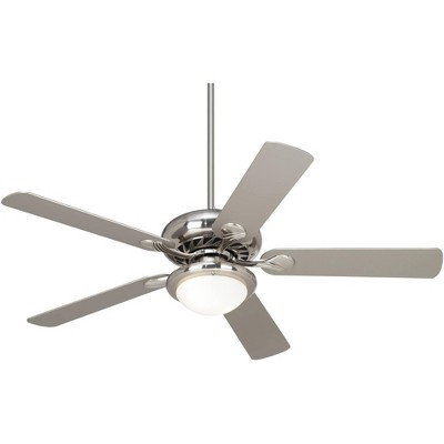 "52"" Casa Vieja Modern Ceiling Fan with Light LED Dimmable Brushed Nickel Silver Blades Opal Glass Living Room Kitchen"