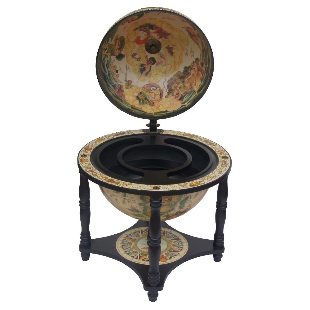 Waypoint Geographic Novara Bar Globe, Antique Wood