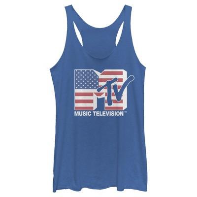 Women's MTV Flag Logo Racerback Tank Top