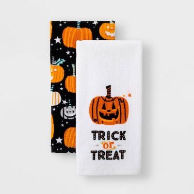 2pk Pumpkin Halloween Terry Kitchen Towel - Hyde & EEK! Boutique™