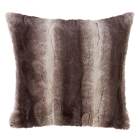 Animal Print Faux Fur Pillow - Saro Lifestyle - image 1 of 2