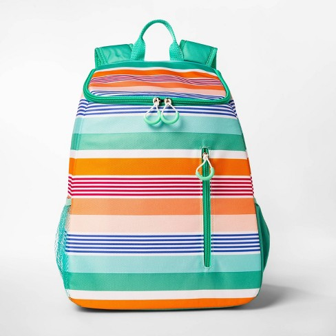 26qt Warm Stripe Backpack Cooler - Sun Squad™ - image 1 of 3