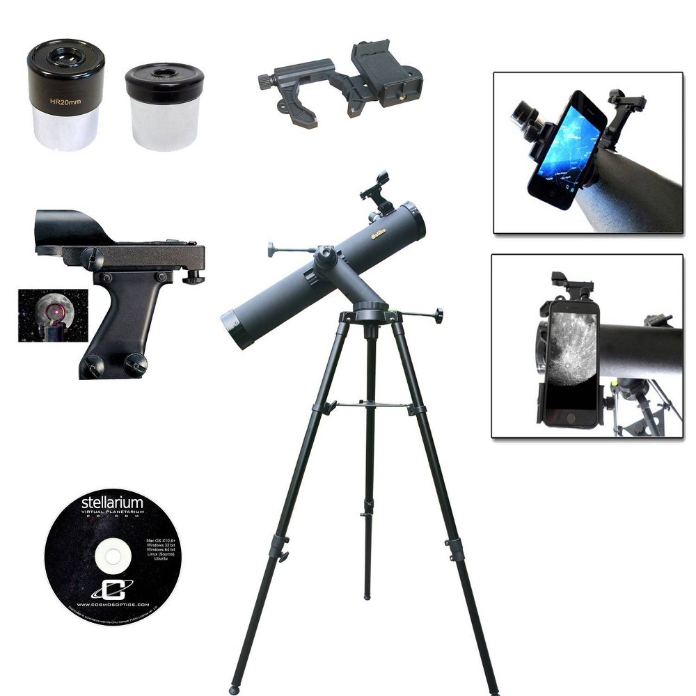 Image of Galileo 800x90 Tracker Reflecting SmartScope Telescope - Black