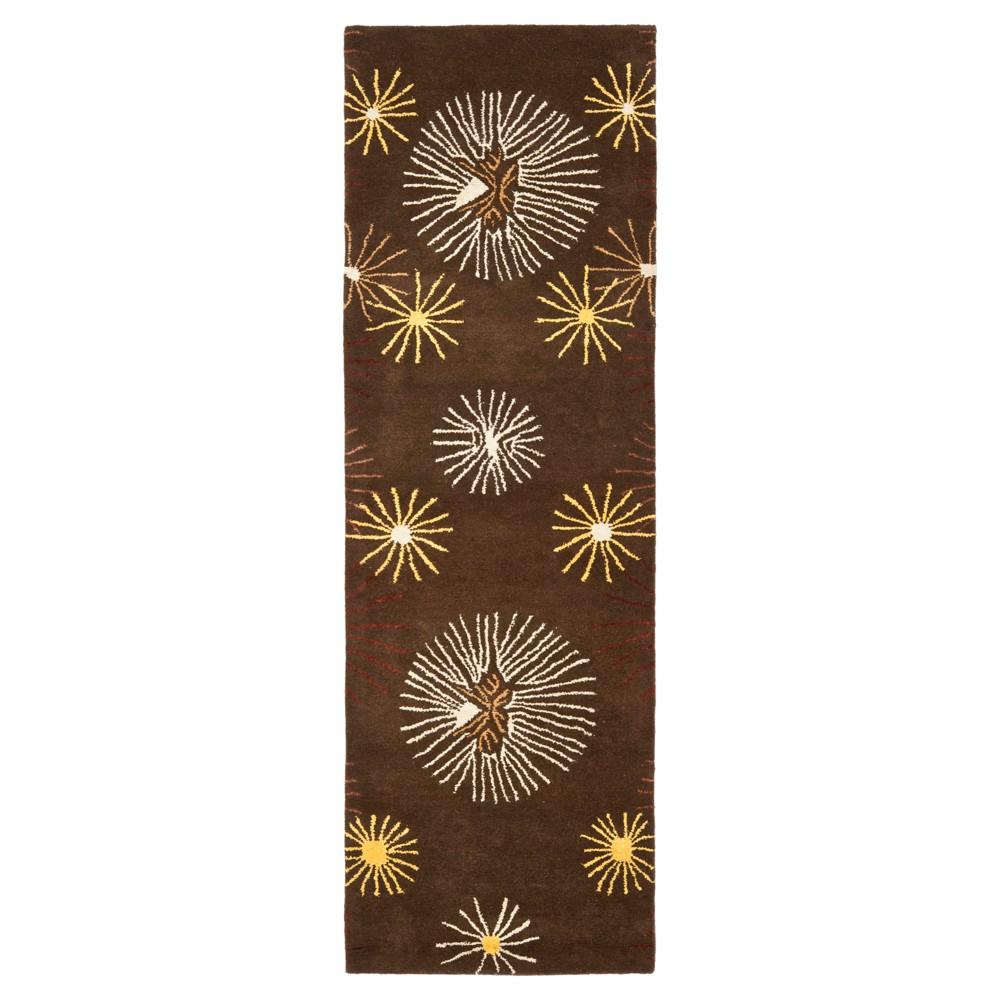 Brown/Multi Botanical Tufted Runner - (2'6x12' Runner) - Safavieh