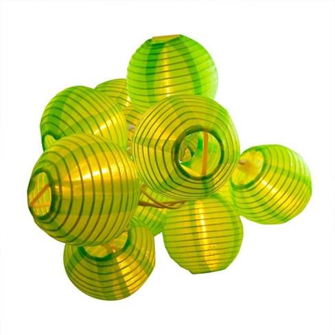 "10ct Lumabase Green Electric String Light with 3"" Nylon Lanterns - image 1 of 2"