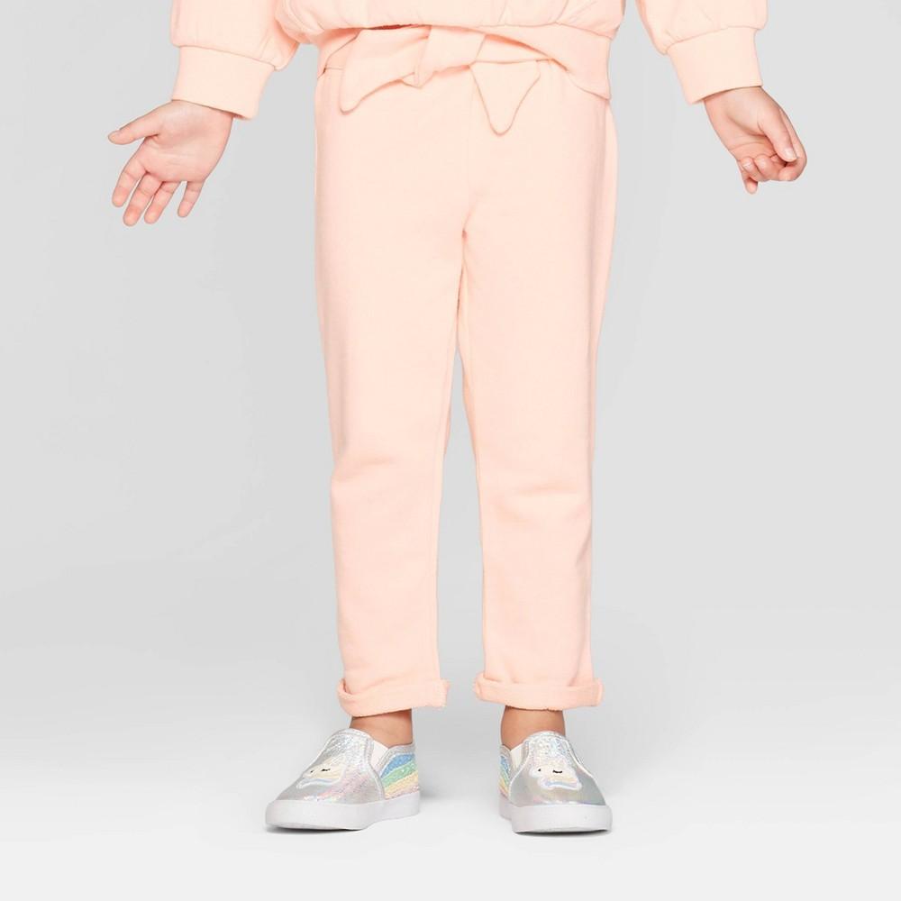 Toddler Girls' Tie Front Jogger Pants - art class Pink 3T