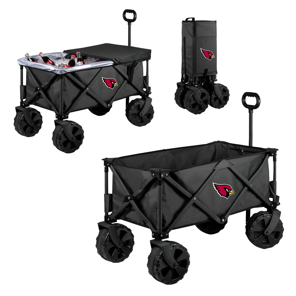 NFL Arizona Cardinals Picnic Time Elite Cooler with All-Terrain Wheels - Dark Gray