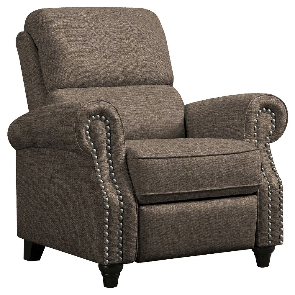 ProLounger Push Back Recliner - Chocolate Brown - Handy Living, Chocolate Heather