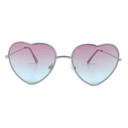 24b2ae93f43 Girls  Hearts Sunglasses - Cat   Jack™ Pink One Size   Target