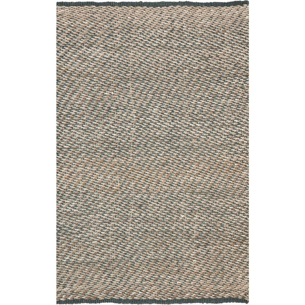 6'X9' Solid Woven Area Rug Blue/Natural - Safavieh