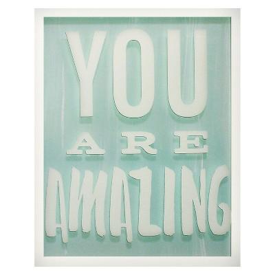 You are Amazing Screen Printed Glass Art - Pillowfort™