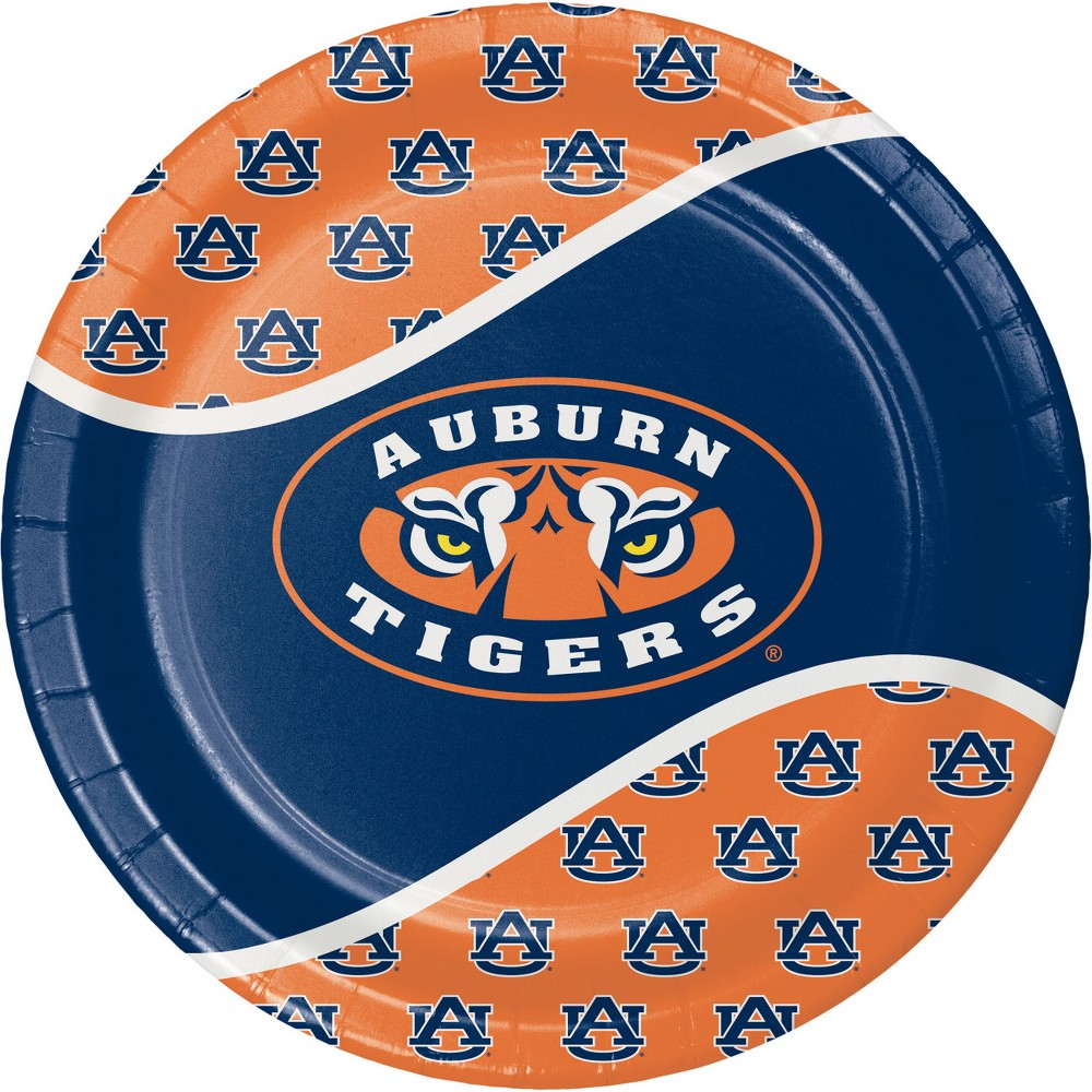 Image of 24ct Auburn Tigers Paper Plates Navy