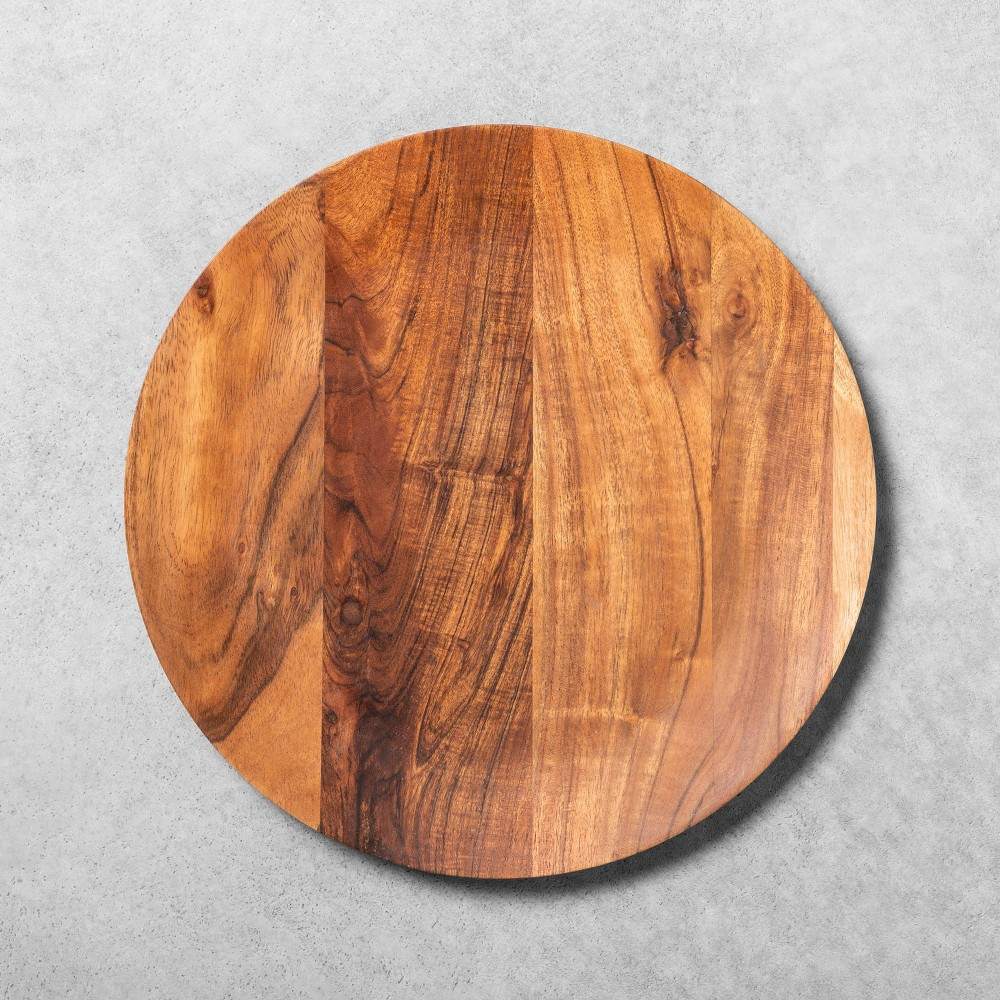 Image of Acacia Wood Charger - Hearth & Hand with Magnolia, Brown