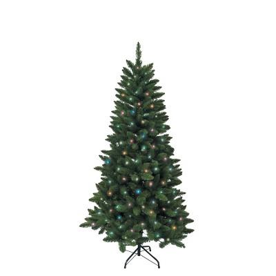 Kurt Adler 4.5' Pre-Lit Multi-Color Green Pine Tree