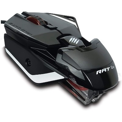 Mad Catz The Authentic R.A.T. 2+ Optical Gaming Mouse, Black ( MR02MCAMBL00 )
