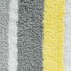Microfiber Square Striped Rug - Gray/Yellow - iDESIGN - image 2 of 2