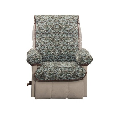 3pc Reversible Camouflage Quilted Recliner Cover Chocolate- Zenna Home