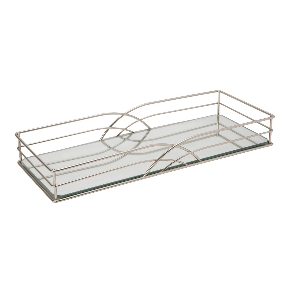 Vanity Tray In Jazz Design Silver - Home Details
