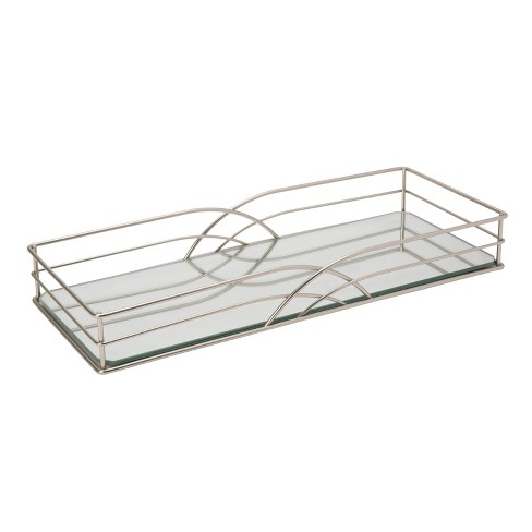Vanity Tray In Jazz Design Silver - Home Details - image 1 of 3