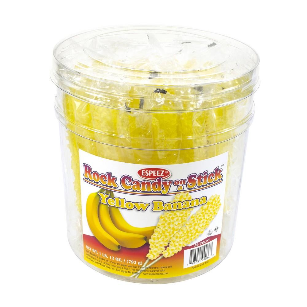 Espeez Yellow Rock Candy Sticks - 36ct