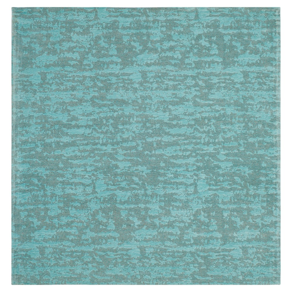 Blue/Turquoise Spacedye Design Woven Square Area Rug 6'X6' - Safavieh