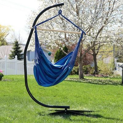 Jumbo Hanging Rope Hammock Chair Swing And Stand   Beach Oasis   Sunnydaze  Decor : Target
