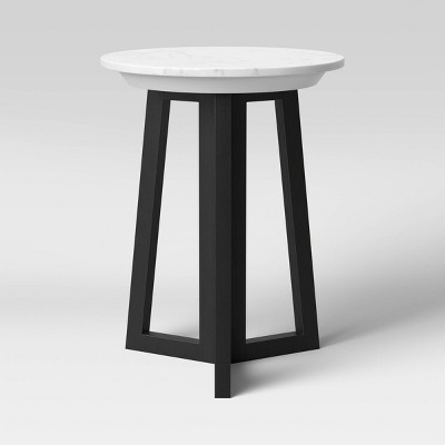 Altavista Round Marble End Table White - Threshold™