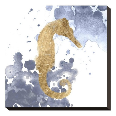 Gilded Splash VI By Grace Popp Unframed Wall Canvas - Art.com - image 1 of 2