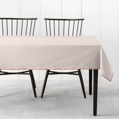 Tablecloth with Decorative Stitch Light Pink - Hearth & Hand™ with Magnolia