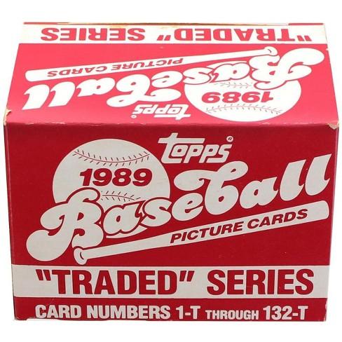 Topps Mlb 1989 Topps Baseball Traded Series Set Of 132 Cards