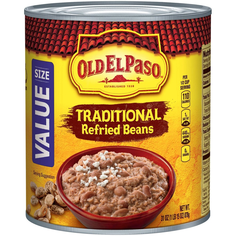 Old El Paso Refried Beans 31oz Discounts