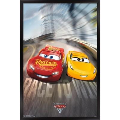 Trends International Disney Pixar Cars 3 - Race to Win Framed Wall Poster Prints