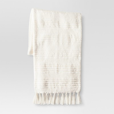 Cream Chenille Stripe Throw - Threshold™